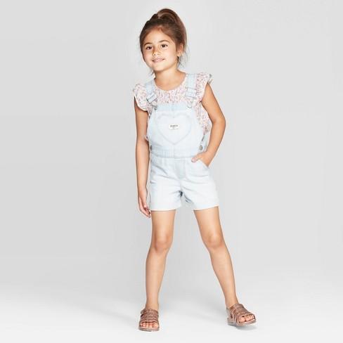 0f51547e3cb OshKosh B Gosh Toddler Girls  Denim Shortalls - Blue   Target