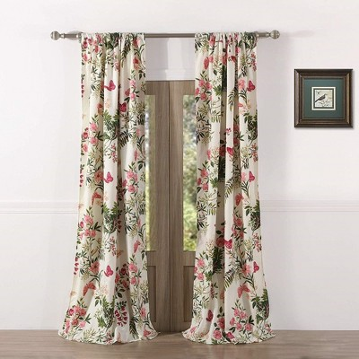 Greenland Home Fashions Butterflies 2-piece Window Curtain Panel - 42 x 84, Multicolored