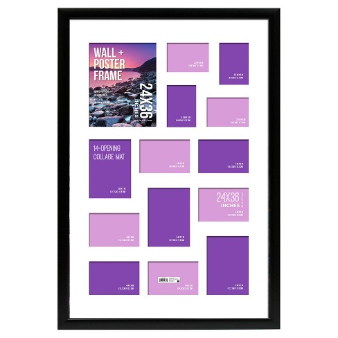 Poster Frame 15 Profile Black 24x36 Matted To 14 Openings