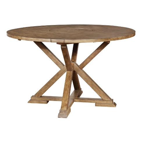 McKinley Counter Table Weathered Oak - Powell Company - image 1 of 4