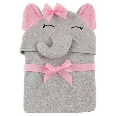 Hudson Baby Newborn Hooded Animal Towel - Elephant