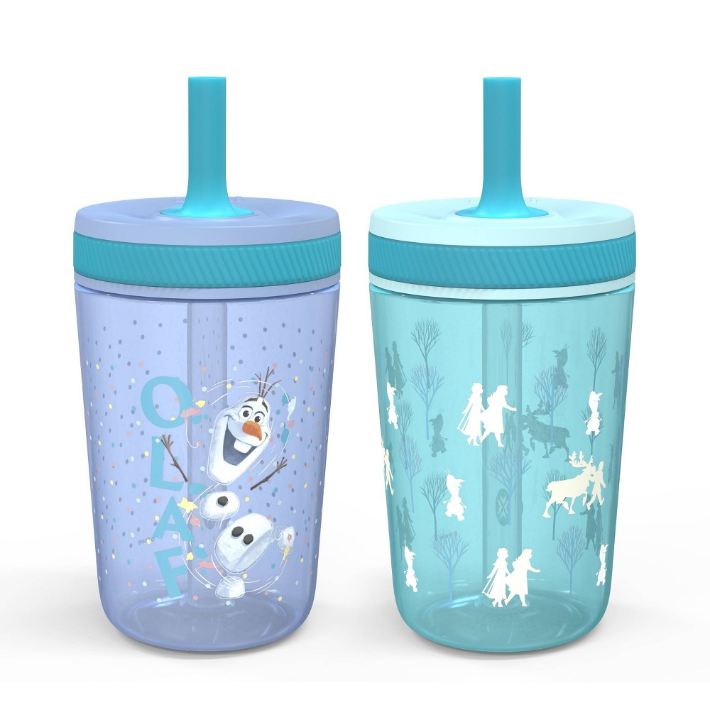 Image of Frozen 2 Olaf 15oz 2pk Plastic Tumblers with Straws - Zak Designs