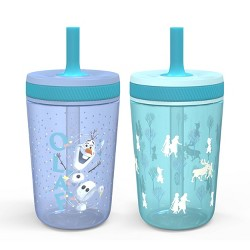 Frozen 2 Olaf 15oz 2pk Plastic Tumblers with Straws - Zak Designs