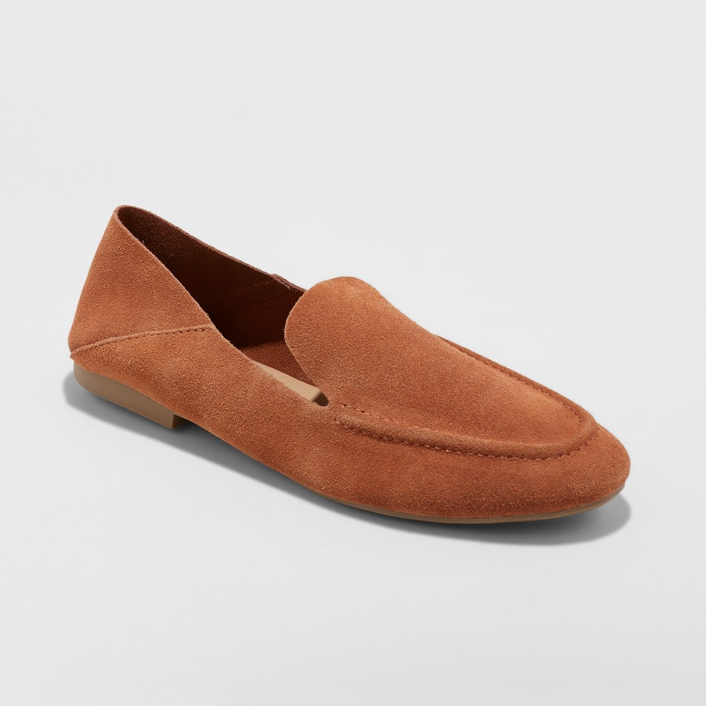 Women's Jisela Collapsible Back Loafers - A New Day Cognac (Red) 5