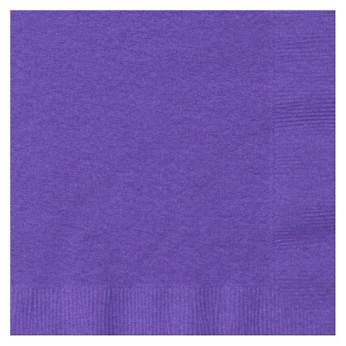 50ct Purple Cocktail Beverage Napkin - image 1 of 1
