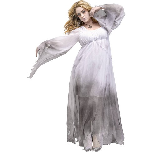 Adult Plus Size Gothic Ghost Halloween Costume - image 1 of 3