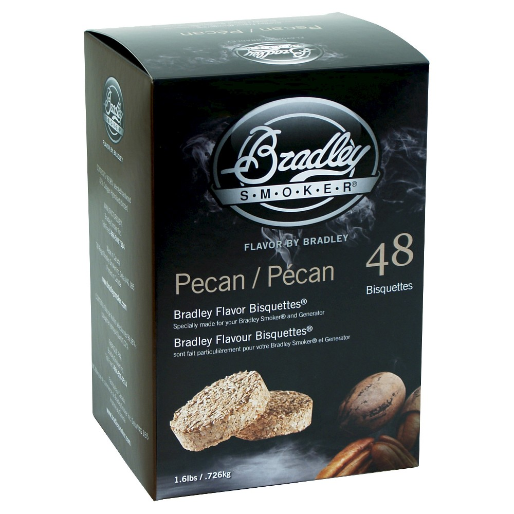 Pecan Bisquettes Pack Of 48 Smoker Box – Bradley Smoker 50189676