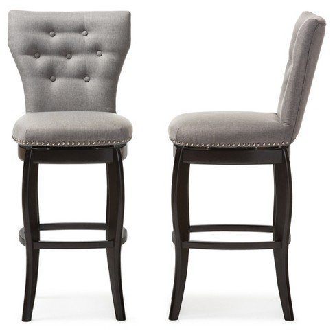 Leonice Modern And Contemporary Fabric Upholstered Button