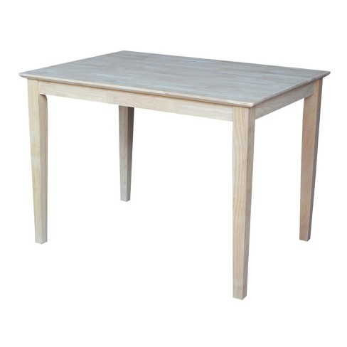 30 X 42 Solid Wood Dining Table Unfinished International Concepts Target