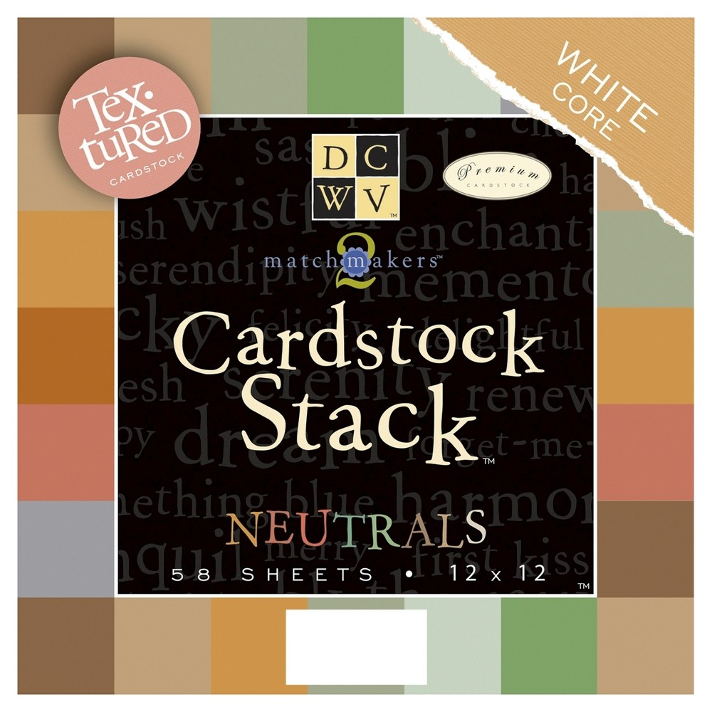 Image of Cardstock Stack - Texture Solids With White Core