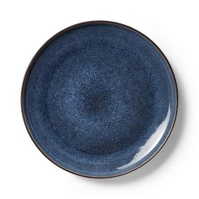 "11"" Reactive Glaze Stoneware Dinner Plate Blue - Levi's® x Target"