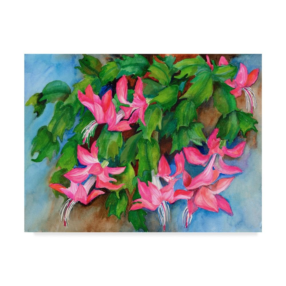 Joanne Porter Christmas Cactus Unframed Wall 24