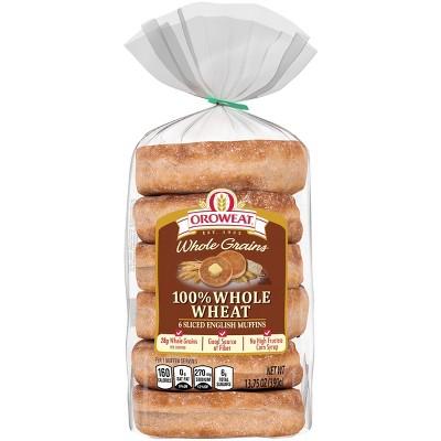 Oroweat 100% Whole Wheat English Muffins - 12.5oz/6ct