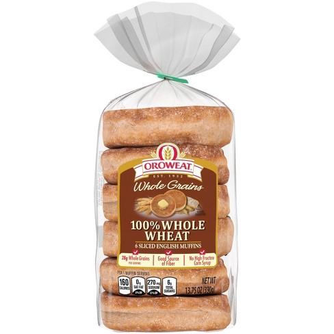 Oroweat 100% Whole Wheat English Muffins - 13.75oz/6ct - image 1 of 4