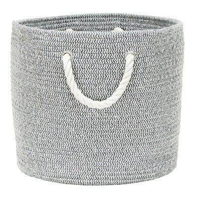 Coiled Rope Storage Bin Large Chevron - Cloud Island™ Gray