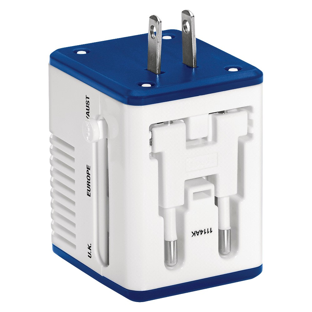 Travel Smart Compact Converter & Adapter Combo, White
