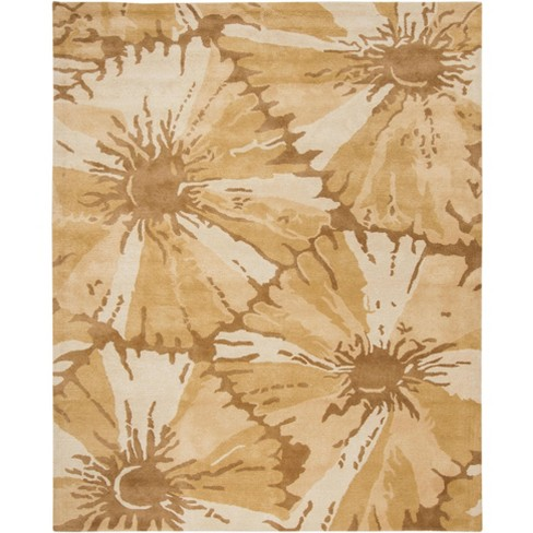 7 6 X9 6 Rectangle Floral Area Rug Brown Safavieh Target
