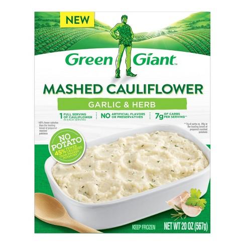 Green Giant Mashed Frozen Cauliflower Garlic & Herb - 20oz - image 1 of 3