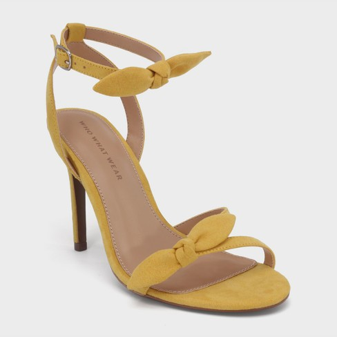 145db6e5d Women s Eden Heeled Ankle Strap Sandals - Who What Wear™ Goldenrod 9    Target