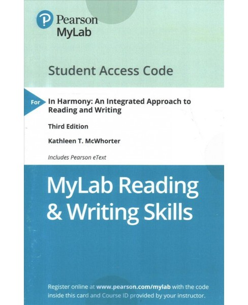 In Harmony MyLab Reading & Writing Skills includes Pearson eText access code : An Integrated Approach to - image 1 of 1