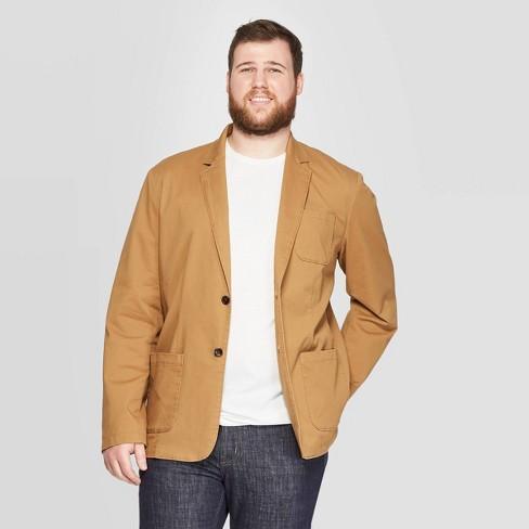 Men's Big & Tall Twill Kenwood Blazer - Goodfellow & Co™ Dapper Brown - image 1 of 3