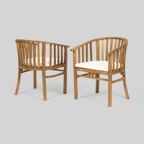 2pk Alondra Wooden Patio Dining Chairs - Christopher Knight Home - image 1 of 4