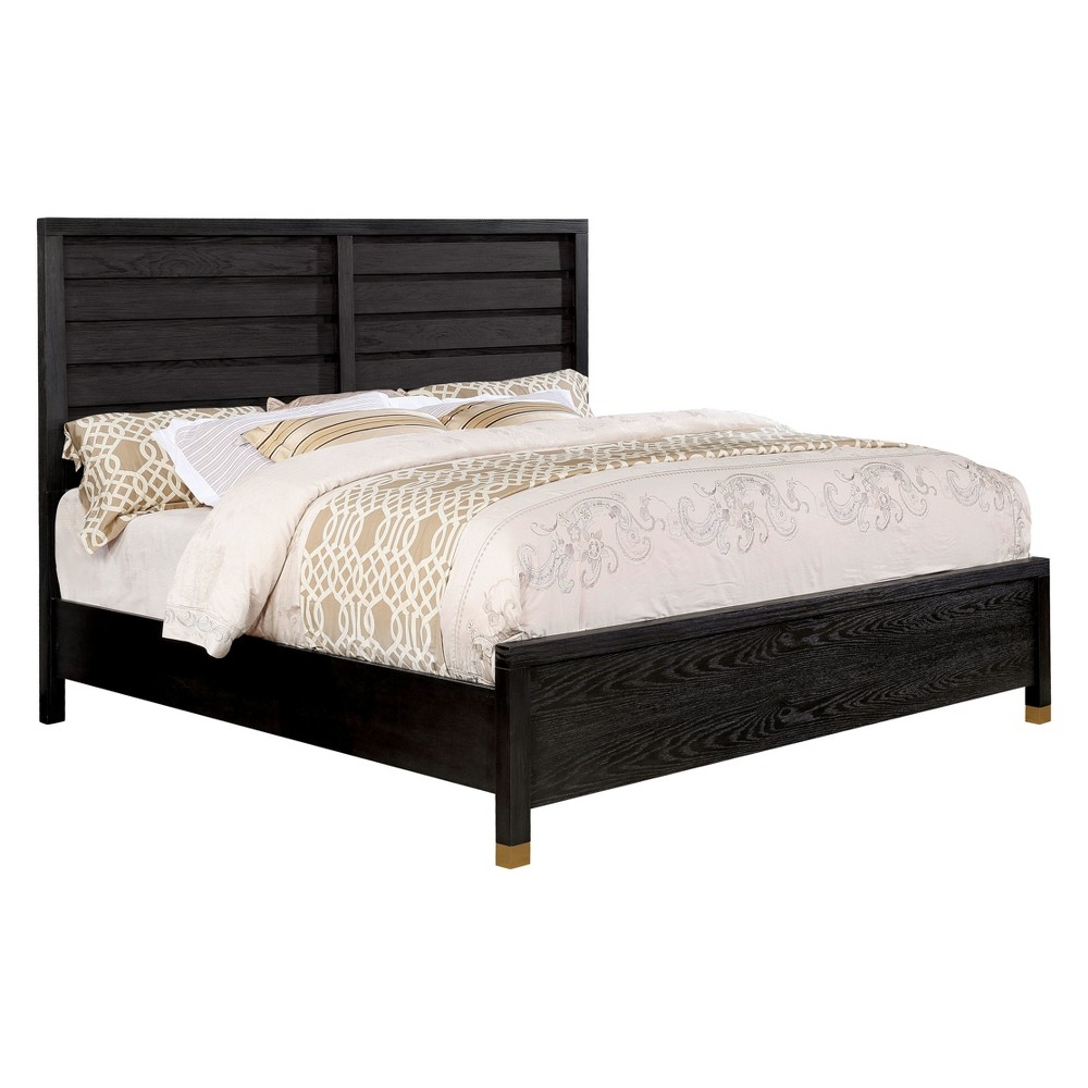 Iohomes Demasi Contemporary Plank Panel Bed Queen - Homes: Inside + Out