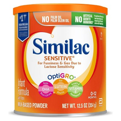 Similac Sensitive For Fussiness and Gas Infant Formula with Iron Powder - 12.5oz