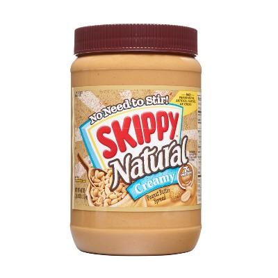 Skippy Natural Creamy Peanut Butter - 40oz