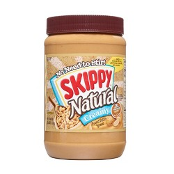 Skippy Natural Creamy Peanut Butter - 40oz
