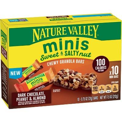 Nature Valley Sweet & Salty Minis Dark Chocolate Peanut & Almond - 10ct
