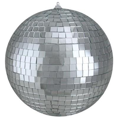 "Northlight Silver Splendor Mirrored Glass Disco Ball Christmas Ornament 6"" (150mm)"
