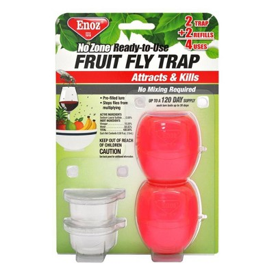 2pk No Zone Ready to Use Fruit Fly Trap - Enoz