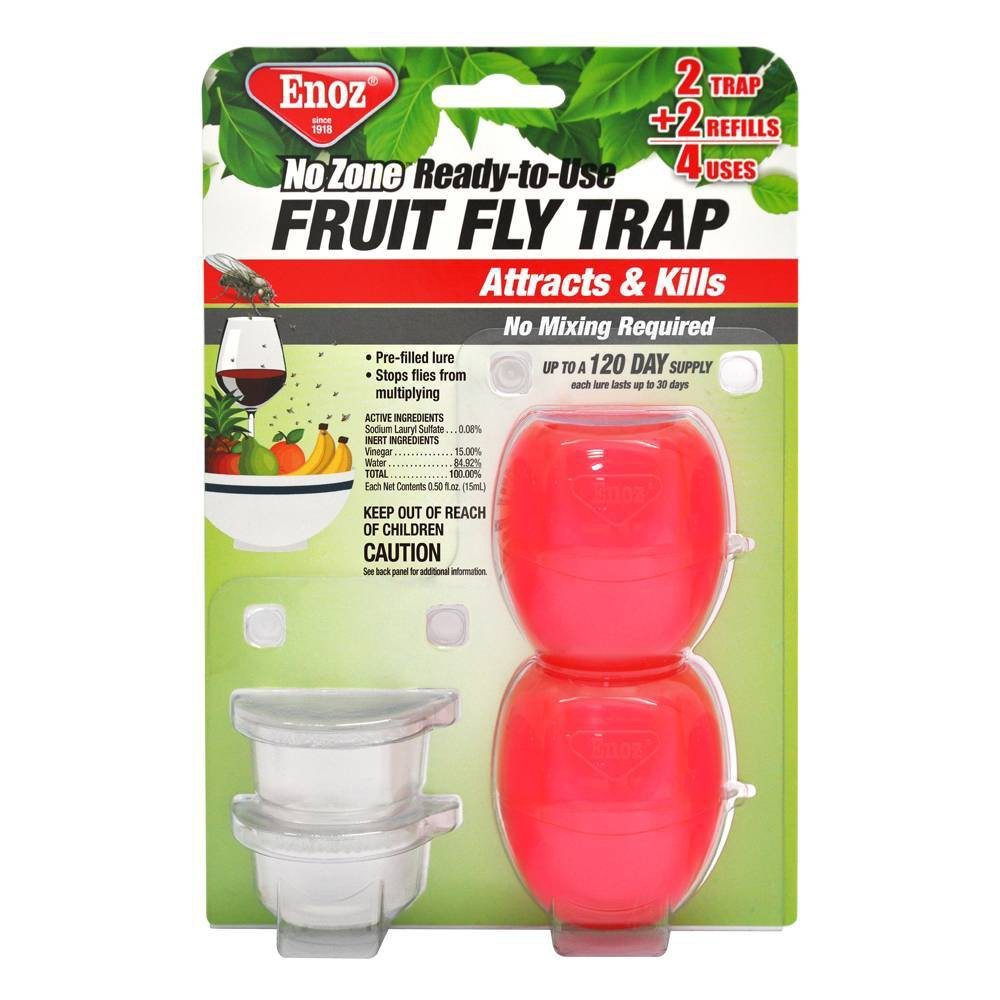 Image of 2pk No Zone Ready to Use Fruit Fly Trap - Enoz
