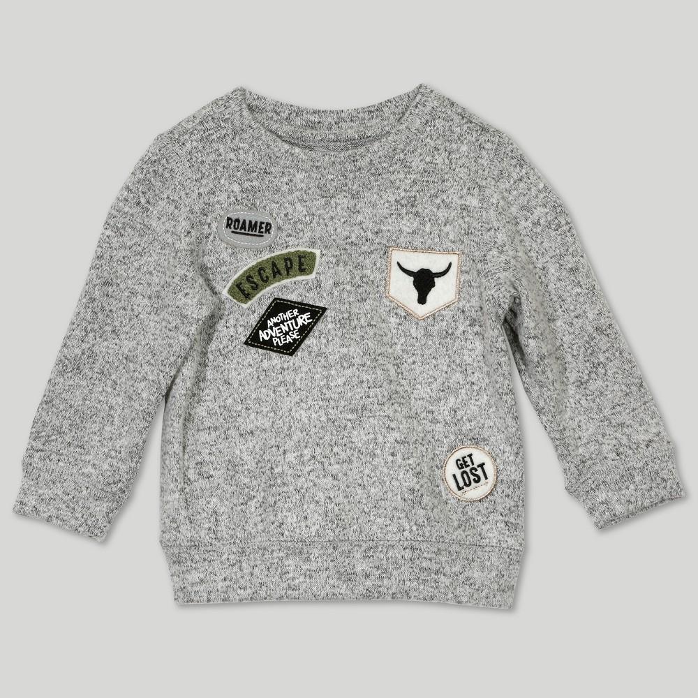 Image of Afton Street Baby Boys' Sweatshirt - Gray Newborn, Boy's