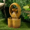 """20.75"""" Indoor/Outdoor Abrazo Fountain with Water Pump Brown - Alfresco Home LLC - image 4 of 4"""