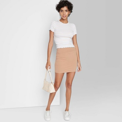 Women's Knit Bodycon Mini Pencil Skirt - Wild Fable™