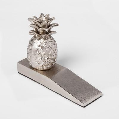 Pineapple Doorstop - Silver - Smith & Hawken™
