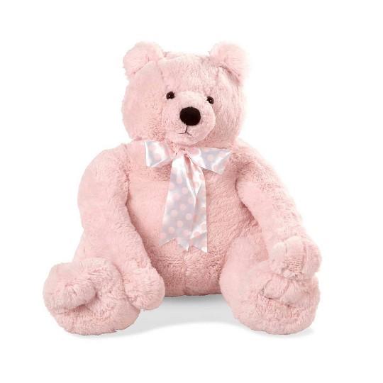Melissa & Doug Jumbo Pink Teddy Bear Stuffed Animal (2 feet tall) image number null