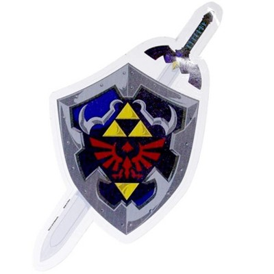 Just Funky The Legend of Zelda Hylian Shileld & Sword Auto Decal