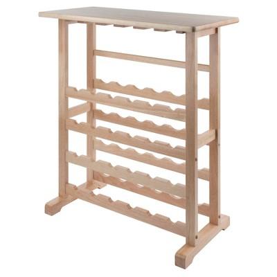 24-Bottle Wine Rack Wood/Beechwood - Winsome