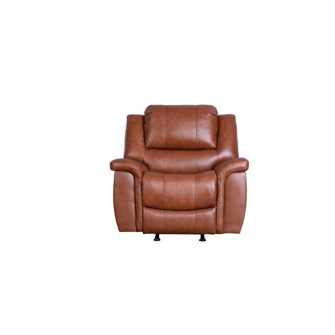 Joel Top Grain Leather Reclining Armchair Camel - Abbyson Living - image 1 of 4