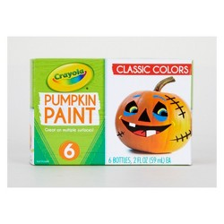 6ct 2oz Crayola Pumpkin Paint - Classic Colors