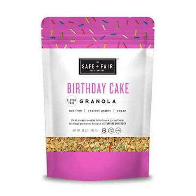 Safe + Fair Birthday Cake Granola - 12oz