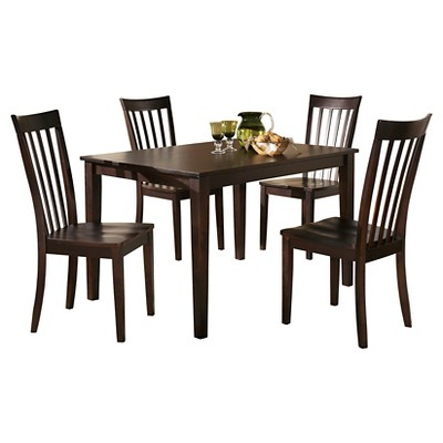 Hyland Rectangular Dining Room Table Set Wood/Reddish Brown - Signature Design by Ashley