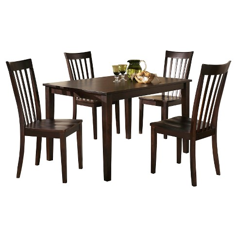 Hyland Rectangular Dining Room Table Set Woodreddish Brown