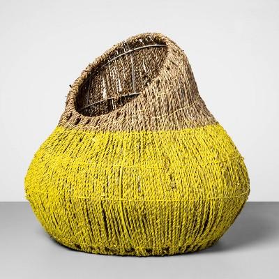 Decorative Sea Grass Gourd Basket Yellow 15 x17  - Opalhouse™