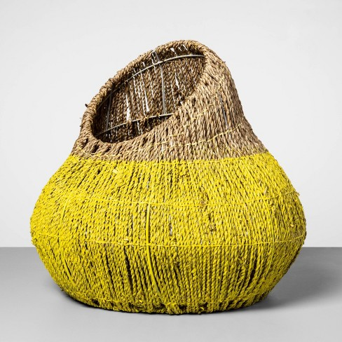 "Decorative Sea Grass Gourd Basket Yellow 15""x17"" - Opalhouse™ - image 1 of 2"