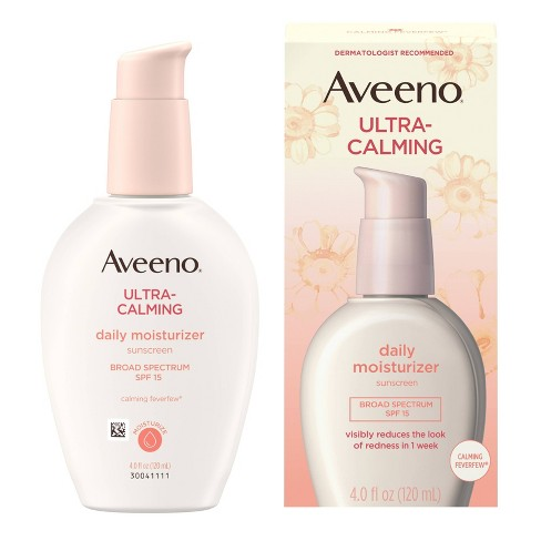 Aveeno Ultra-Calming Daily Moisturizer Sunscreen - SPF 15 - 4 fl oz - image 1 of 4