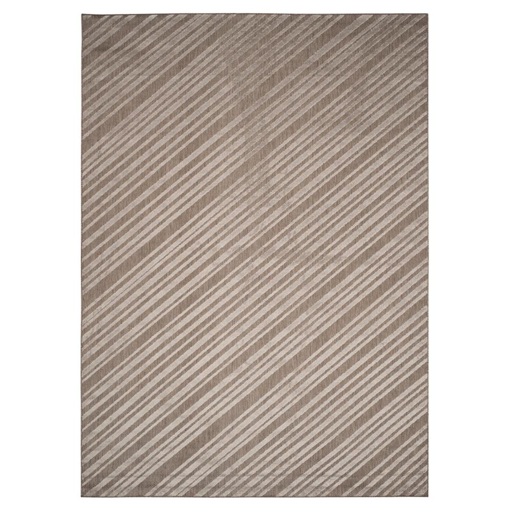 Gray Stripe Loomed Area Rug 8'X11'2 - Safavieh